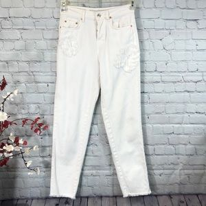White Zara Denim Jeans